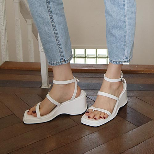 line wedge sandal(3 colors)
