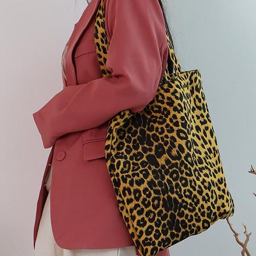 leopard febric bag(2 colors)