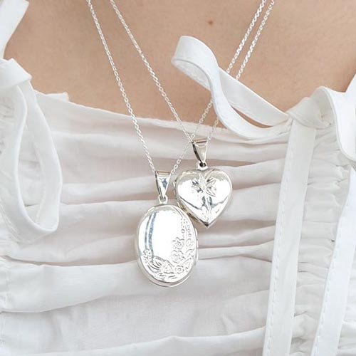 [silver 925]antique locket necklace(2 types)