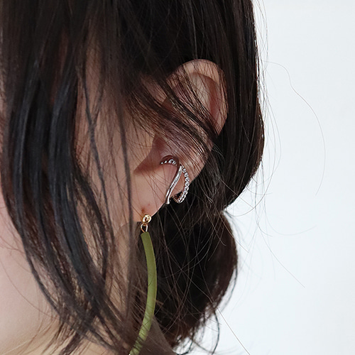two line wave earcuff