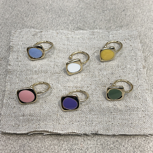 small color square earcuff (6 colors)