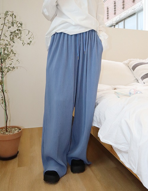 FW wide pleats pants (5 colors)