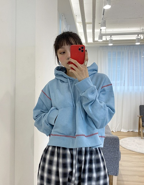 stitch point crop hoody (4 colors)