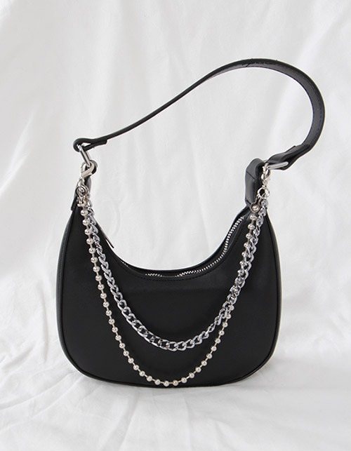 black mini point shoulder bag (+멀티체인)