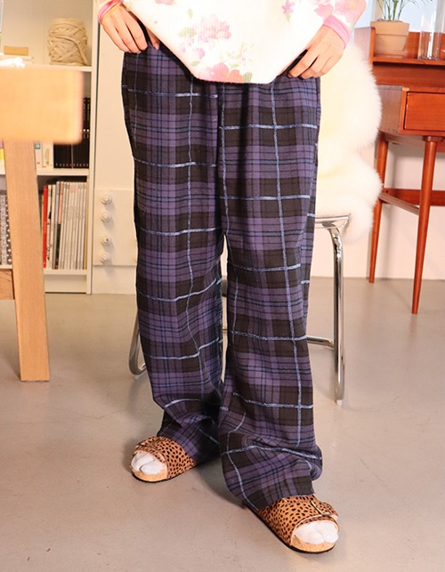 check banding pants (2 colors)