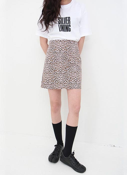 leopard mini skirt (pink M only!)