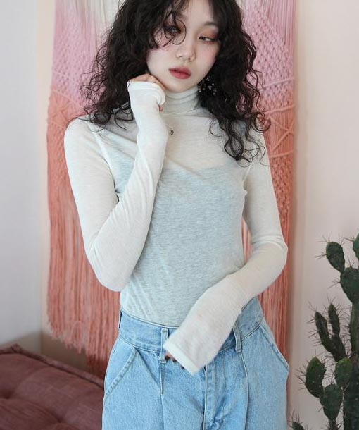 daily light turtleneck top (7 colors)