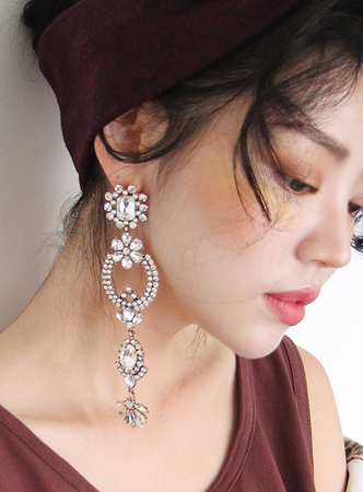 chandelier big earring (2 colors)네이비컬러 추가!!