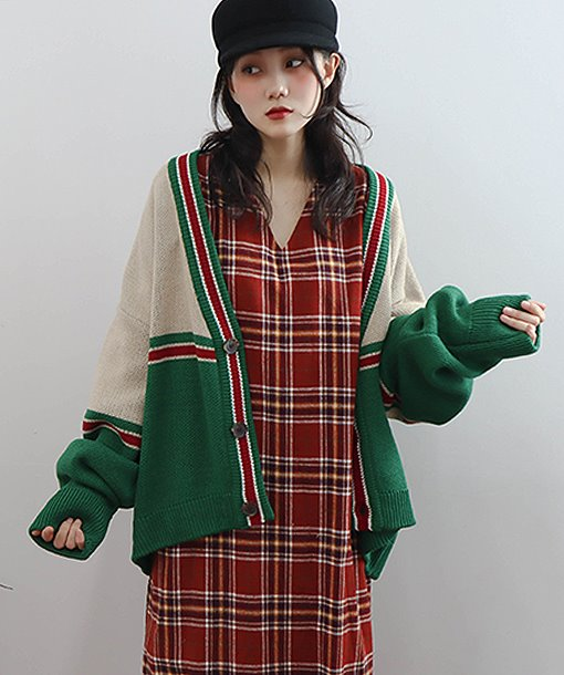 analog color cardigan (2 colors)