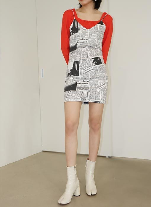 newspaper slip dress