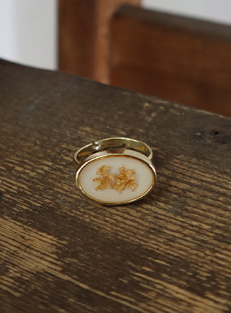 gold powder ring