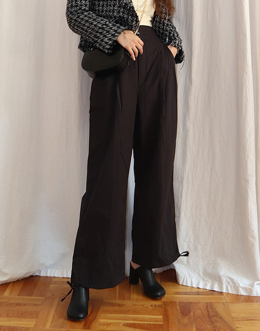 pintuck 2way pants (2 colors)