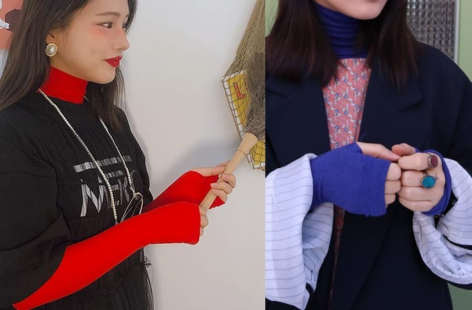wool warmer turtle neck T (red only!)