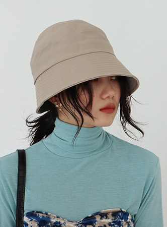 simple round bucket hat (3 colors)