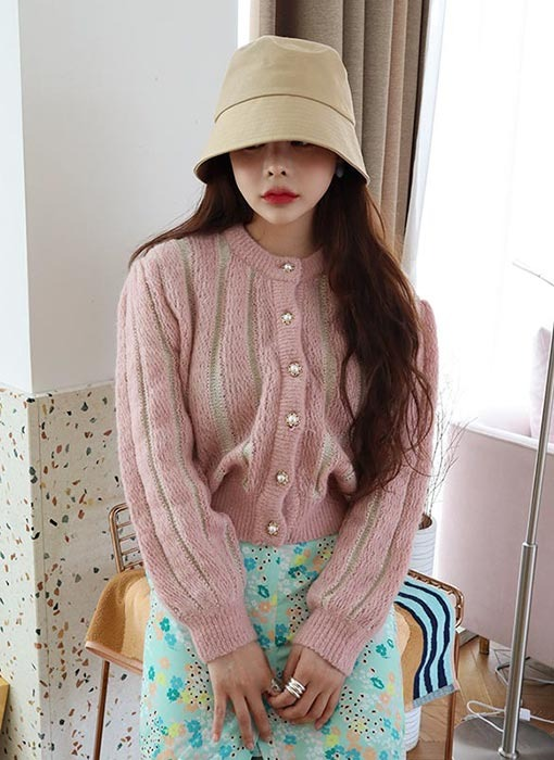 pearl button cardigan (4 colors)