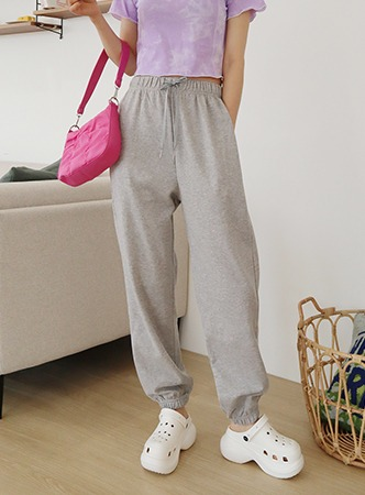 summer simple jogger pants (4 colors)