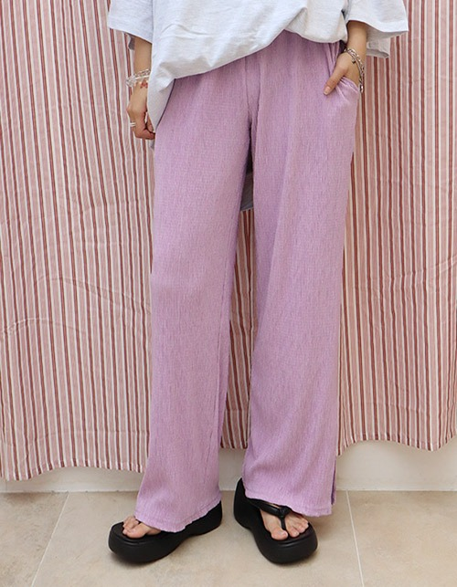 pleats slit pants(3 colors)