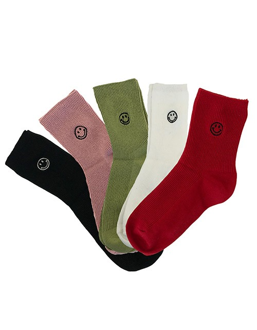 smile basic socks (5 colors)