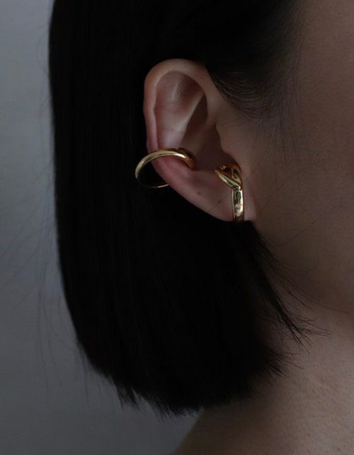 two line ring earcuff (2 colors)