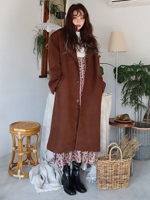 Alpaca Long Coat (brown only!)