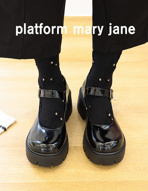 platform mary jane shoes (2 type)