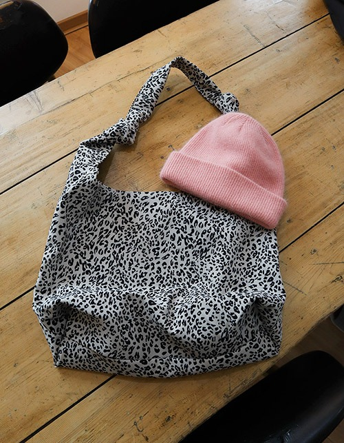 leopard cotton  bag(2 colors)