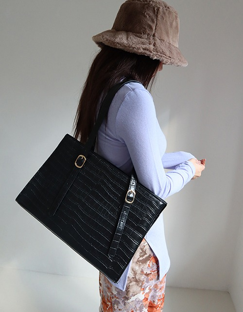 croco big square bag
