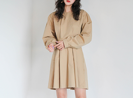 beige tunic dress