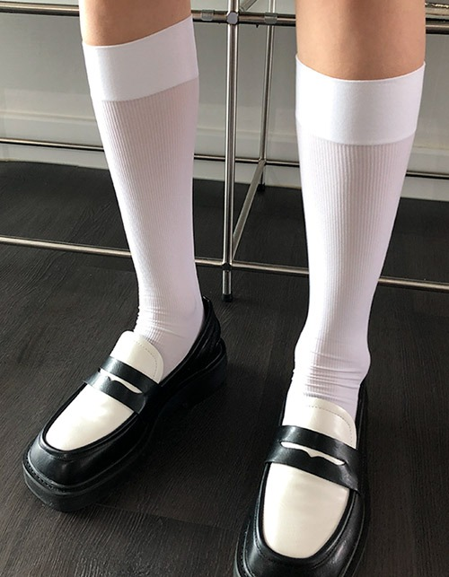 sheer long socks (2 colors)